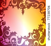 colorful heart vector card. | Shutterstock .eps vector #77238706