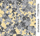 geometric mosaic pattern.... | Shutterstock .eps vector #772387096