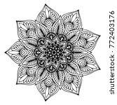 mandalas for coloring book.... | Shutterstock .eps vector #772403176