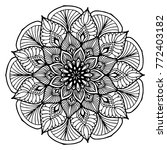 mandalas for coloring book.... | Shutterstock .eps vector #772403182