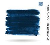 blue brush stroke and texture.... | Shutterstock .eps vector #772404082