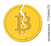 crypto currency bitcoin  with a ... | Shutterstock .eps vector #772404172