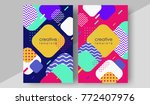 minimal cover design annual... | Shutterstock .eps vector #772407976