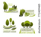 landscaping company and... | Shutterstock .eps vector #772409485