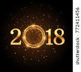 golden glitter 2018 background... | Shutterstock .eps vector #772411456