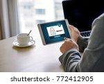 privacy access login... | Shutterstock . vector #772412905