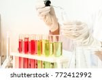 scientists are experimenting...   Shutterstock . vector #772412992