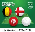 world soccer 2018   group 07... | Shutterstock .eps vector #772413298