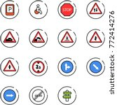 line vector icon set   parking... | Shutterstock .eps vector #772414276