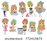 vector illustration of cute... | Shutterstock .eps vector #772415875