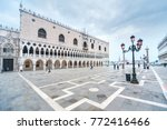 doge's palace on san marco... | Shutterstock . vector #772416466