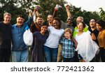 group of diversity people... | Shutterstock . vector #772421362
