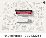 computer and technology  text... | Shutterstock .eps vector #772422265