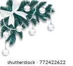 new year's christmas. a blue...   Shutterstock .eps vector #772422622