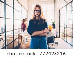 half length portrait of... | Shutterstock . vector #772423216
