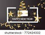 paper art of happy new year... | Shutterstock .eps vector #772424332