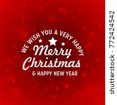 christmas greetings card with... | Shutterstock .eps vector #772424542