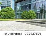 modern buildings and empty... | Shutterstock . vector #772427806