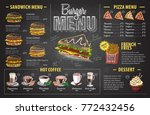 vintage chalk drawing burger... | Shutterstock .eps vector #772432456