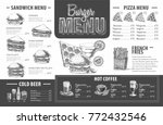 vintage burger menu design.... | Shutterstock .eps vector #772432546