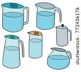vector set of water pitcher | Shutterstock .eps vector #772436176