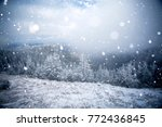 christmas and new year... | Shutterstock . vector #772436845