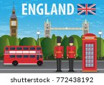 journey to england banner... | Shutterstock .eps vector #772438192