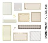 set of craft paper memo  ...   Shutterstock .eps vector #772438558
