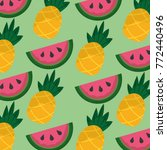 tropical fruits watermelon and...   Shutterstock .eps vector #772440496