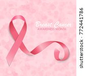 breast cancer awareness month... | Shutterstock . vector #772441786