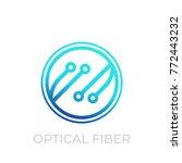 optical fiber vector icon on... | Shutterstock .eps vector #772443232