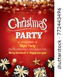 merry christmas party light and ... | Shutterstock .eps vector #772443496