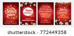 merry christmas party glass... | Shutterstock .eps vector #772449358