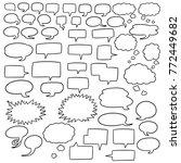 vector set of speech bubbles | Shutterstock .eps vector #772449682
