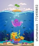 marine habitats and the beauty...   Shutterstock .eps vector #772450852