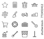 thin line icon set   star ... | Shutterstock .eps vector #772452412