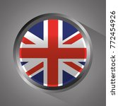 united kingdom flag badge round ... | Shutterstock .eps vector #772454926
