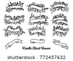 collection of hand drawn doodle ... | Shutterstock .eps vector #772457632