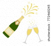 two champagne glasses with... | Shutterstock .eps vector #772460245