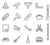 thin line icon set   share ... | Shutterstock .eps vector #772460872