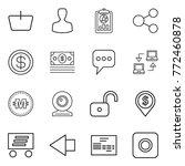 thin line icon set   basket ... | Shutterstock .eps vector #772460878