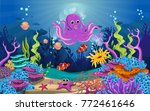 marine habitats and the beauty... | Shutterstock .eps vector #772461646