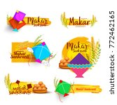 makar sankranti element sets. | Shutterstock .eps vector #772462165