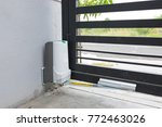 automatic door gate with motor | Shutterstock . vector #772463026