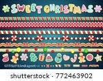 sweet christmas design element. ... | Shutterstock .eps vector #772463902