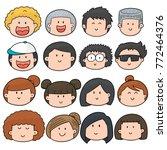 vector set of cartoon face | Shutterstock .eps vector #772464376
