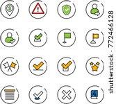 line vector icon set   dollar... | Shutterstock .eps vector #772466128