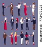 people dressed formally in... | Shutterstock .eps vector #772473226