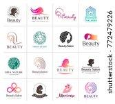 big vector logo set for beauty... | Shutterstock .eps vector #772479226