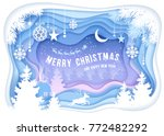 christmas and new year festive... | Shutterstock .eps vector #772482292